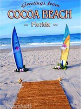 Cocoa Beach Florida United States of America Travel Advertisement Art Poster