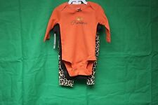 Carters Baby Girls 3-pc. Leopard Bodysuit Set size new born brand new with tags