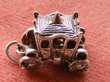 VINTAGE STERLING SILVER CHARM ROYAL CARRIAGE OPENS