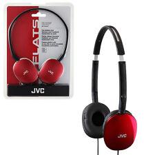 JVC HA-S160 FLATS Lightweight Headphones - Red