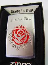 Zippo® Burning Rose for your Love Platte New / Neu OVP