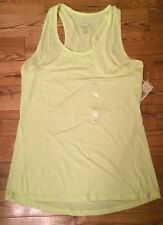 NWT Womens TANGERINE Bright Yellow Relaxed Fit Athletic Tank Top XL