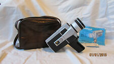 Antique Vintage Lentar Super 8 Model 817 Camera with Carry Case and Manual