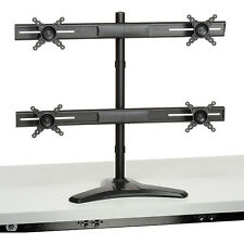 Quadruple Monitor Mount ~ Quad LCD Screen ~ Multiple Display Stand for Up to 24""