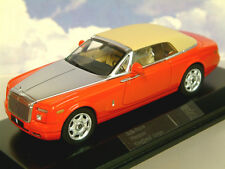 SUPERB IXO 1/43 DIECAST 2007 ROLLS ROYCE PHANTOM DROPHEAD COUPE IN RED MOC128P