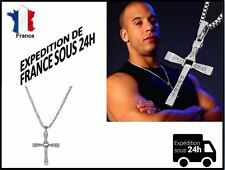 Chaine + pendentif croix Fast and Furious Vin Diesel