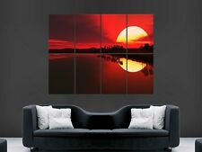 BEAUTIFUL SUNSET enorme grande WALL ART POSTER PICTURE PRINT