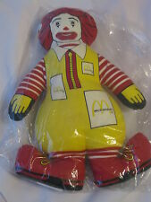 Vintage 1983 Ronald McDonald Stuffed Pillow Rare Toy (NEW SEALED)