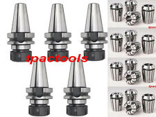 5PC BT40 ER32 PRECISION COLLET CHUCK AND 20PC METRIC ER32 COLLETS SET 2-20MM NEW