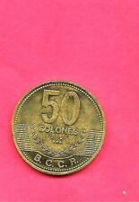 COSTA RICA KM231.1b 2007 UNC-UNCIRCULATED BU-MINT LARGE NEW 50 COLONES COIN