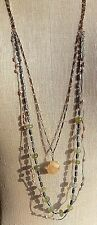 3 Layer Necklace with Semi-Precious Drop Anthropologie