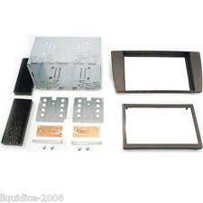 CT23JG01 JAGUAR X-TYPE 2002 to 2009 BLACK DOUBLE DIN FASCIA ADAPTER FITTING KIT