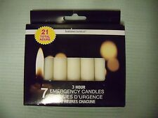 "Emergency Candles,3¾"" , 7-ct. Packs,  Luminessence, Paraffin Wax, Pillar,"