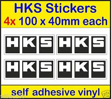4 HKS decals performance Exhausts rally race subaru 350z vw ford dub car sticker