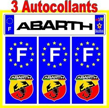 Abarth Fiat 500 Sticker Autocollant Plaque immatriculation Auto Tuning Sport
