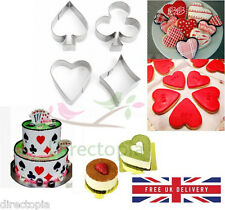 Poker Alice in Wonderland Style Cookie Cutter Cake Decorating Biscuit Mould Set