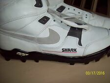 Nike Shark Hi  White/Black Size 11 1/2 vtg Football turfs shoes 1980s