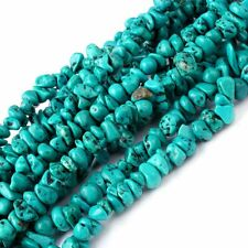 4-10mm Natural Freeform Shape Blue Turquoise Chips Gemstone Beads Strand 34""