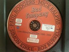 Live in Albuquerque 1976 by Bad Company (MINT) for both 2 CD's only/no inserts.