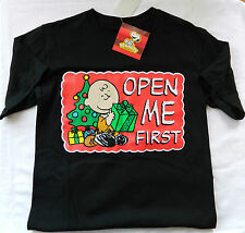 """NEW NWT Men's S Peanuts Snoopy """"Open Me First"""" T-Shirt - $1.99 Shipping!!!"""