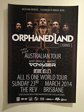 ORPHANED LAND 2014 Australian Tour Poster A3 *BRISBANE REV ONLY* All Is One *NEW