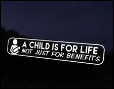 Child For Life Car Decal Sticker JDM Vehicle Bike Bumper Graphic Funny