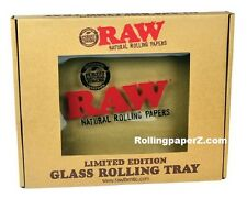 "Raw® Rolling papers - Limited Edition - GLASS ROLLING TRAY 13"" X 11"" - AUCTION -"