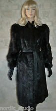 GORGEOUS VINTAGE TED LAPIDUS GENUINE BEAVER FUR COAT, Black Color, Long