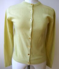 Hermes 100% cashmere sweater cardigan llime green signature 8 buttons Size M