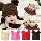 Fashion Baby Kids Boys Girls Toddler Knitted Crochet Beanie Warm Winter Hat Cap