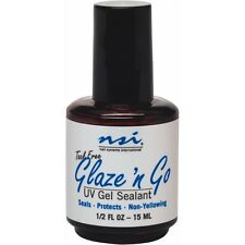NSI Glaze N Go UV Gel Top Coat  Seals & Protects Nails  15ml NSI  glaze n go