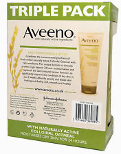 Aveeno Daily Moisturising Cream Lotion 3 x 200ml Dry Skin Moisturiser