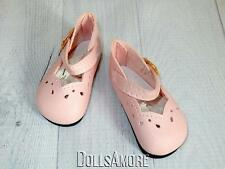 "PINK DOLL SHOES 64MM 16"" FITS VINTAGE AND MODERN DOLLS"