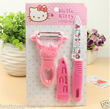 Hello kitty Paring knife suit kitchen ware Cute cartoon KT knife 2015 New style