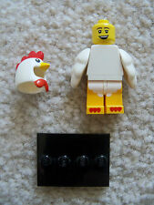 LEGO Collectible Minifigs - Rare Original - Chicken Suit Guy w/ Stand - 71000