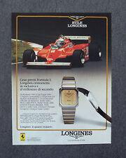 G070-Advertising Pubblicità-1984 - LONGINES COLLEZIONE XL OROLOGI AL QUARZO