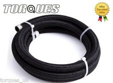 "AN -6 (8mm) 5/16"" Black Nylon Braided Fuel Hose 3 Meter"