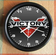 VICTORY MOTORCYCLE NEW LOGO 2013 10 inch Resin Wall Clock