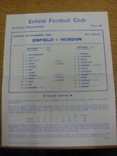 04/11/1969 Enfield v Hendon  (Single Sheet, Neat Team Changes, Folded).  This it