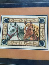 Equine Pair-Gorgeous Counted Cross Stitch Kit-Dimensions Gold Collection-Petite