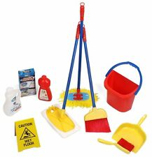Click n Play Kids Pretend Play Cleaning Toy Set Water Bucket Broom Mop Dustpan
