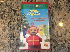 MERRY CHRISTMAS TELETUBBIES! RARE 2 VHS TAPE SET KIDS FAMILY EDUCATIONAL PBS FUN