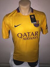 Nike Mens 2015/16 FC Barcelona Away Soccer Jersey Gold/Red 658785 740 SIZE (L)