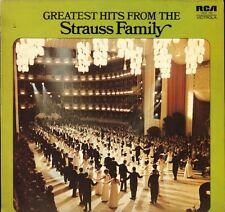 VICS 1742 THE STRAUSS FAMILY greatest hits from uk rca victrola LP PS VG+/EX