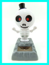 Solar Dancing Skeleton Flip Flap Swing Shake Novelty Collectible Toy Figurine