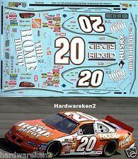 NASCAR DECAL #20 HOME DEPOT - RIGID 2001 PONTIAC GRAND PRIX TONY STEWART - SLIXX