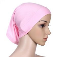 Women Ladies Under Scarf Tube Bonnet Cap Bone Islamic Head Cover Hijab Pink Hot