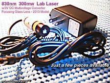 POWERFUL Focusing Module 830nm 300mw Lab Laser w/3V Multivoltage A/C