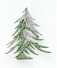 signed Swarovski~ Hippie~ 2009 CHRISTMAS TREE Pin ~ Holiday Brooch~ NIB ~ rare