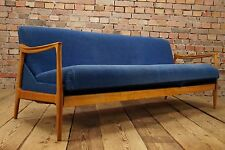 60s VINTAGE SOFA DAYBED DANISH SOFABED BED COUCH SETTEE RETRO wooden armrests 4